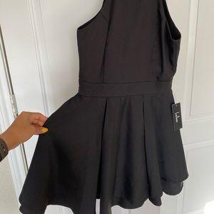 Lulus Short and Chic Black Halter Dress
